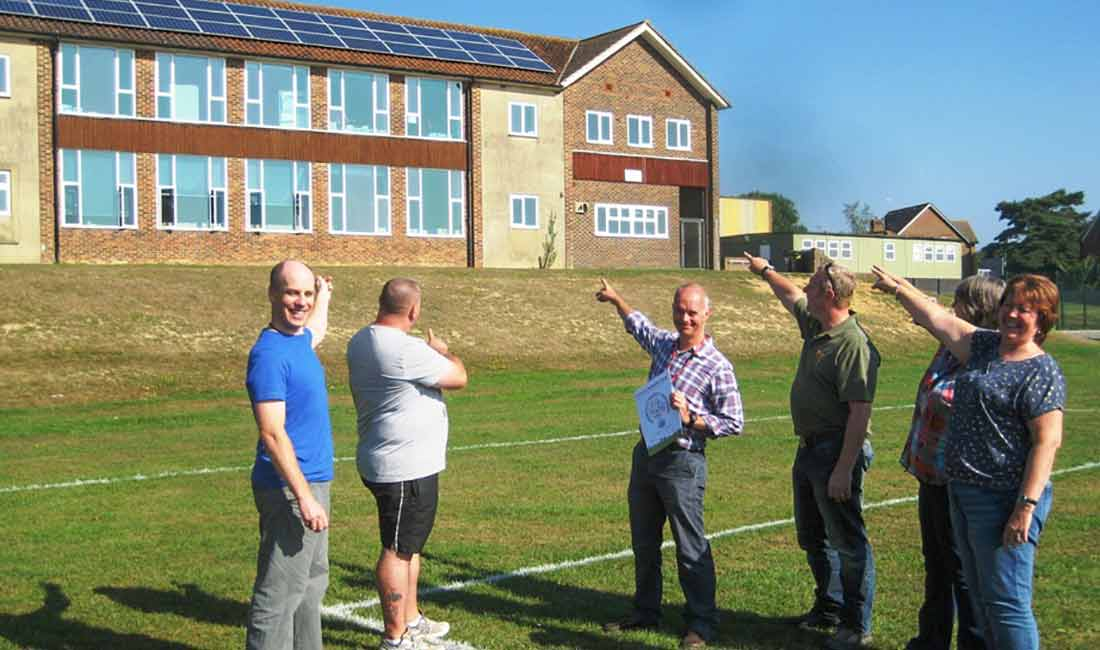 Chailey School PV Panels OVESCO Solar Energy Lewes image