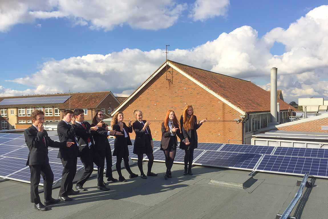 Ringmer Community College PV Panels OVESCO Solar Energy Lewes image